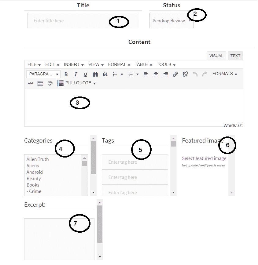 Writing Tools Help