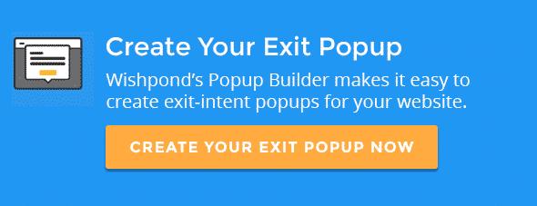 Exit Intent Pop up
